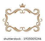 royal frame with crown ... | Shutterstock .eps vector #1935005246