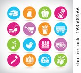 agriculture icons set  colorful ... | Shutterstock .eps vector #193500566