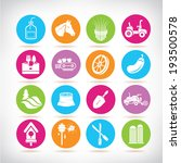 agriculture icons set  colorful ... | Shutterstock .eps vector #193500578