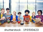 multiethnic group of people... | Shutterstock . vector #193500623