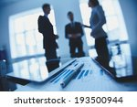 close up of business document ... | Shutterstock . vector #193500944