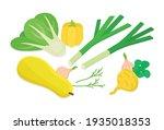 vegetables set. isometric... | Shutterstock .eps vector #1935018353