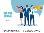 vector of office workers a... | Shutterstock .eps vector #1935022949