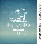 beach typographic background... | Shutterstock .eps vector #193503170