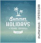 beach typographic background... | Shutterstock .eps vector #193503188