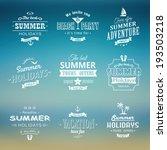 beach labels set eps10 | Shutterstock .eps vector #193503218