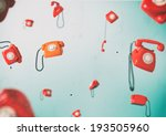 phones flying in... | Shutterstock . vector #193505960