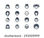 avatar and user icons | Shutterstock .eps vector #193505999