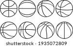 set of basketball balls... | Shutterstock .eps vector #1935072809