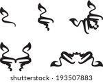 set of abstract floral symbols   Shutterstock .eps vector #193507883