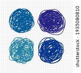 scribble round vector elements... | Shutterstock .eps vector #1935080810
