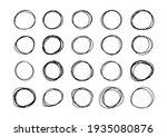 hand drawn circle frame vector... | Shutterstock .eps vector #1935080876