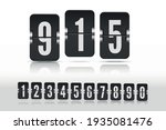 set of black flip numbers on a... | Shutterstock .eps vector #1935081476