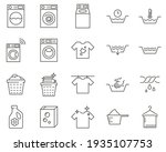 set of laundry line vector... | Shutterstock .eps vector #1935107753