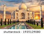 Taj Mahal At Sunset  Famous...
