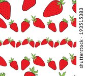 pattern with strawberry | Shutterstock .eps vector #193515383