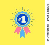 number  1 winner ribbon award... | Shutterstock .eps vector #1935158006