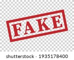 fake icon is red on a... | Shutterstock .eps vector #1935178400