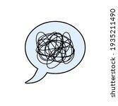 speech bubble. confused... | Shutterstock .eps vector #1935211490