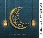 ramadan kareem. gold moon... | Shutterstock .eps vector #1935238613