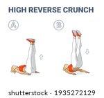 high reverse crunch woman home... | Shutterstock .eps vector #1935272129