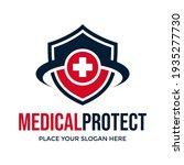 medical protect vector logo... | Shutterstock .eps vector #1935277730