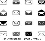 envelope mail icon flat design...