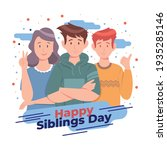 happy sibling's day concept....   Shutterstock .eps vector #1935285146