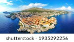 Small photo of The aerial view of Dubrovnik, a city in southern Croatia fronting the Adriatic Sea, Europe