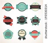 labels design vintage style set.... | Shutterstock .eps vector #193530314