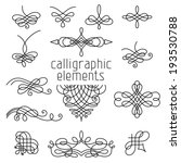 vector set of calligraphic... | Shutterstock .eps vector #193530788