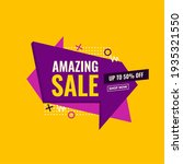 amazing sale yellow and purple... | Shutterstock .eps vector #1935321550