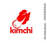 kimchi logo in red flat color ... | Shutterstock .eps vector #1935329410