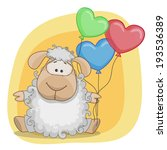 greeting card sheep with... | Shutterstock .eps vector #193536389