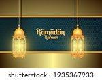 ramadan kareem and traditional... | Shutterstock .eps vector #1935367933