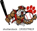 muscular bulldog baseball team...   Shutterstock .eps vector #1935379819