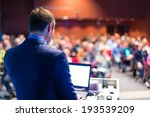 speaker at business conference... | Shutterstock . vector #193539209