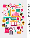creative shopping elements.... | Shutterstock .eps vector #193539236