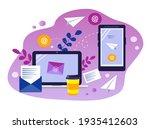 vector illustration on the... | Shutterstock .eps vector #1935412603