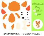 cut and glue paper little dog....   Shutterstock .eps vector #1935449683