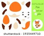 cut and glue paper little fox....   Shutterstock .eps vector #1935449710