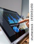 kpi dashboard data charts on... | Shutterstock . vector #1935451450