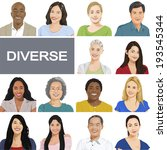 diverse people on white... | Shutterstock .eps vector #193545344