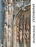 Detail Sculptures Of Saints On...