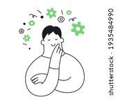 technology thinking  cute... | Shutterstock .eps vector #1935484990