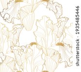 Floral Pattern With Iris...