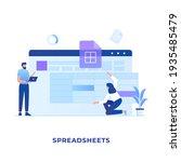 spreadsheets illustration...