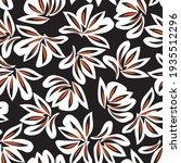 orange floral botanical...   Shutterstock .eps vector #1935512296