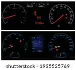 vector car dashboards collage.... | Shutterstock .eps vector #1935525769