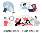 set of flat design people... | Shutterstock .eps vector #1935528340
